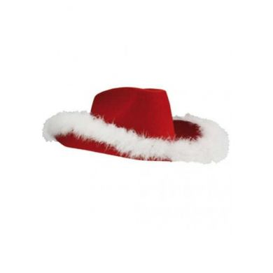 Kerst Cowbow Hoed