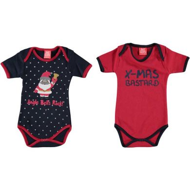 "Baby rompertje ""Jingle Bells Rock!"" (2 stuks)"