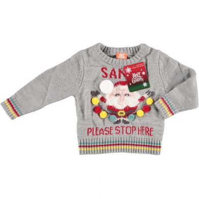 Santa, Please Stop Here | Baby Kersttrui
