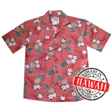 "Hawaii Shirt ""Ananas Rood"""