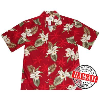 "Hawaii Shirt ""Hibiscus Rood"""