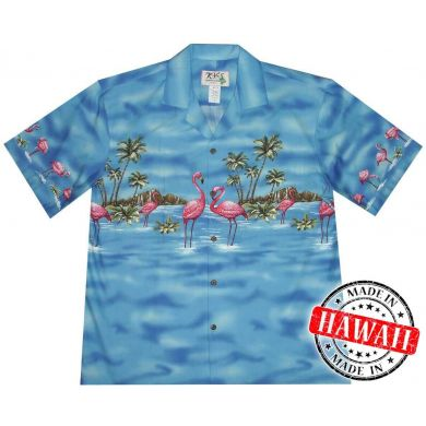 "Hawaii Shirt ""Flamingo in het Water"""