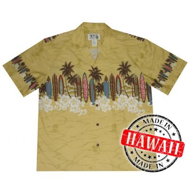 "Hawaii Shirt ""Boards at the beach"""